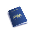 international passport cover template vector image