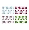 Isometric alphabet font isolated vector image