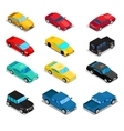 Isometric Transportation Car Set vector image