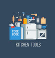 kitchen tools and items icons vector image vector image