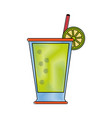 lemonade glass cup vector image