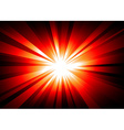 LIght Explosion Background wth Orange and Red vector image vector image