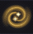 light glowing effect golden waves with shiny vector image vector image