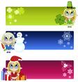 Little elf banners vector image vector image