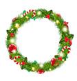 Merry Christmas Wreath vector image vector image