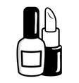 nail polish and lipstick vector image