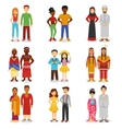 National Couples Icons Set vector image vector image
