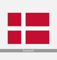 national flag denmark danish country flag vector image