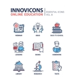 Online education line design icons set vector image vector image