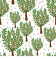 Orange trees vector image vector image
