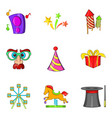parkland icons set cartoon style vector image vector image