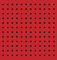 Perforated red seamless pattern vector image vector image