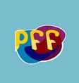 pff sticker social media network message badges vector image vector image