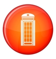 Phone booth icon flat style vector image vector image
