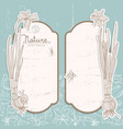 romantic spring flowers banners set vector image