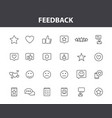 set 24 feedback and review web icons in line vector image