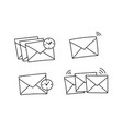 several envelopes waiting to be send closed vector image vector image