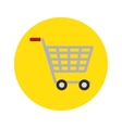 shopping cart concept market buy store icon vector image vector image