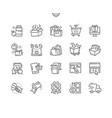 shopping well-crafted pixel perfect thin vector image vector image