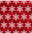 snowflake seamless pattern red snow background vector image vector image