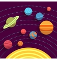 Solar system and space objects set in flat style vector image vector image