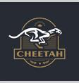 stylized running cheetah vector image