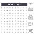 text line icons signs set outline vector image vector image
