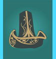 traditional head black headgear in the green vector image