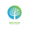 tree logo concept and design element vector image vector image