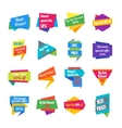 Trendy Colorful Geometric Label Collection vector image vector image