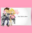 valentine couple greeting card vector image vector image
