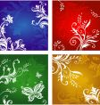 vegetative and flower ornament vector image vector image
