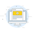 viral video icon - video marketing web page and vector image vector image