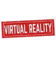 virtual reality sign or stamp vector image
