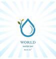 water drop with small tree icon logo design vector image vector image