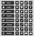 Web design buttons set black