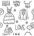 wedding element doodles vector image vector image