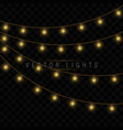 xmas glowing garland vector image vector image