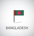bangladesh flag pin vector image