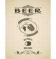 beer ornate hops design background vector image