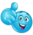 blue thumb up emoticon vector image