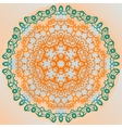 Ornate mandala design yoga karma yantra banner vector image