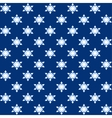 Snowflakes blue Christmas wrapping vector image