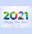 2021 colored snow background vector image