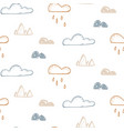 abstract baseamless neutral pattern with clouds vector image vector image
