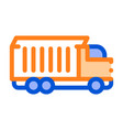 agricultural cargo truck thin line icon vector image