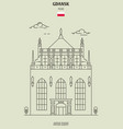 artus court in gdansk vector image vector image