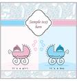 babys in prams vector image vector image