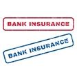 Bank Insurance Rubber Stamps vector image vector image