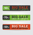 Big sale banners vector image vector image